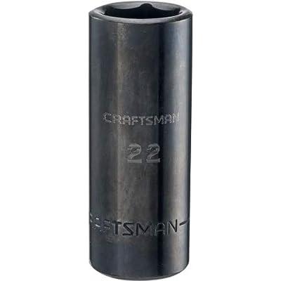 CRAFTSMAN Deep Impact Socket, Metric, 1/2-Inch Drive, 22mm (CMMT16085)