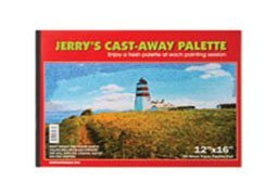 - Jerry's Cast Away Paper Artist Palette Pads - Heavy Duty 35lb Coated White Disposable Palette Paper for Oils, Acrylics, Alkyds, and Egg Tempera - [50 Sheets] - 12 x 16
