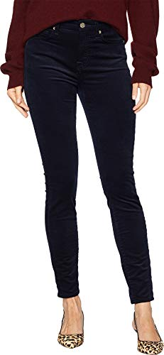 7 For All Mankind Women's Ankle Skinny in Navy Luxe Cord Navy Luxe Cord 25 28 -