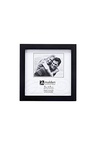 Engravable Wood Picture Frames - Malden International Designs Black Concept Wood Picture Frame, 5x5, Black