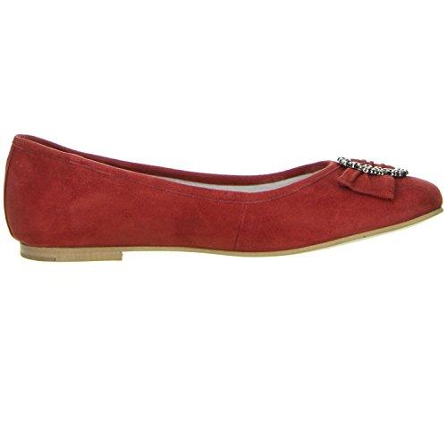 Bergheimer Trachtenschuhe Damen Ballerinas rot Rot