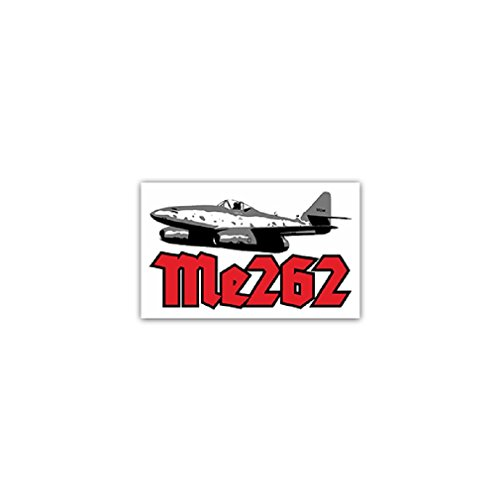 Me 262 Air Force fighter bomber aircraft pilots steel engines silver bullet Germany Military badge emblem for Audi A3 BMW VW Golf GTI Mercedes (11x7cm) - Sticker Wall Decoration