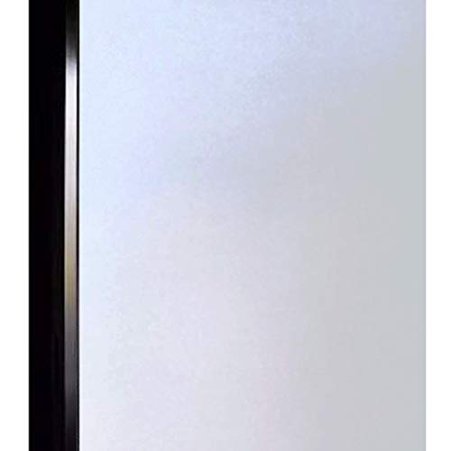 DUOFIRE Privacy Window Film Frosted Glass Film Matte White Static Cling Glass Film No Glue Anti-UV Window Sticker Non Adhesive For Privacy Office Meeting Room Bathroom Living Room 35.4in. x 78.7in. (Shower Glass Door Burnished)