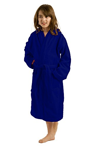 Unisex Terry Hooded Cotton Bathrobe