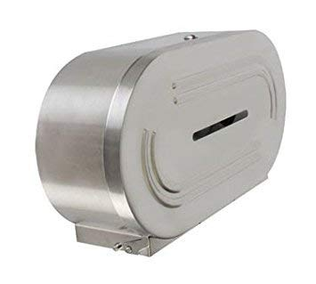 (Twin jumbo-roll toilet to stainless steel dispenser, 18/8 stainless steel, comes in each)