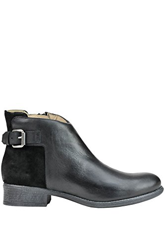 Manas Leather Boots Women's Ankle Black MCGLCAS03007E r8qrtZA