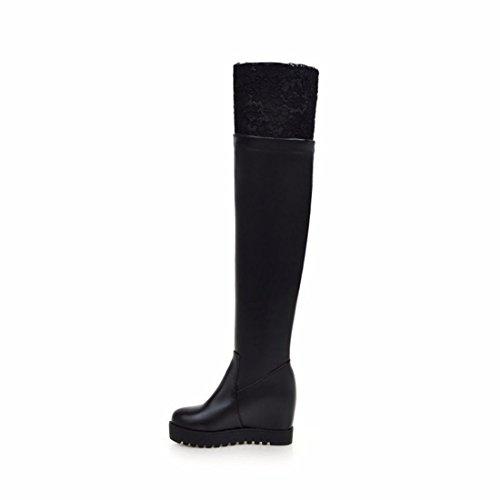 Stessa 35 Ginocchio Stivali Donna Con Pendenza scarpe Con Tacco Stivali Dimensioni Neri Invernale Al Da Rff Alti IHwgBqx