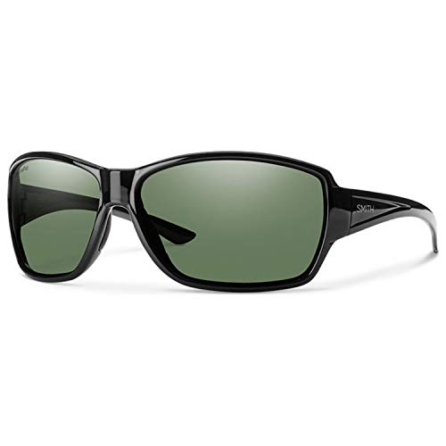 Smith Oversized Sunglasses - Smith Optics Women's Pace Chroma Pop Polarized Sunglasses (Gray Green Lens), Black