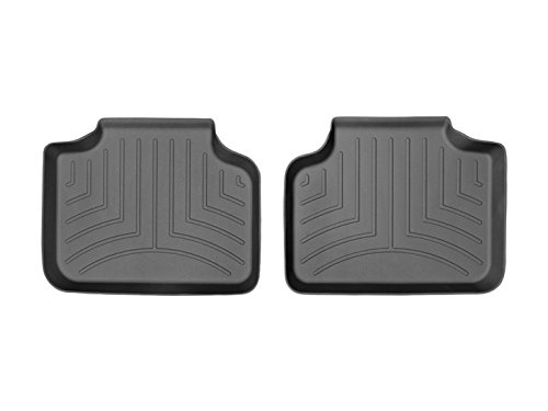 2016 BMW X1 Full Set Floor Liners 1st and 2nd Rows (Black) by WeatherTech (Image #2)