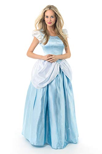 Little Adventures Deluxe Cinderella Dress-Up Costume for Adult Women Large (Size -