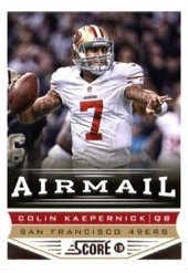 (Colin Kaepernick 2013 Score Football Airmail Card #248 )