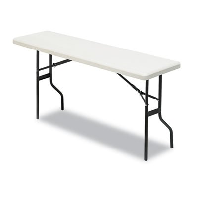 Iceberg 65353 IndestrucTables Too 1200 Series Resin Folding Table, 60w x 18d x 29h, Platinum