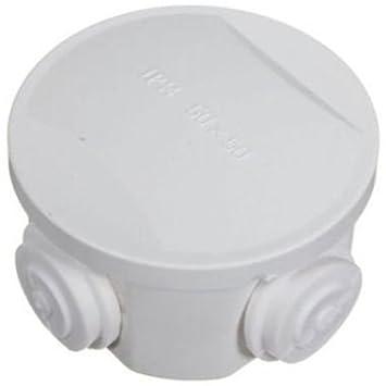 MaxxOne White Round Junction Box - 80x50mm