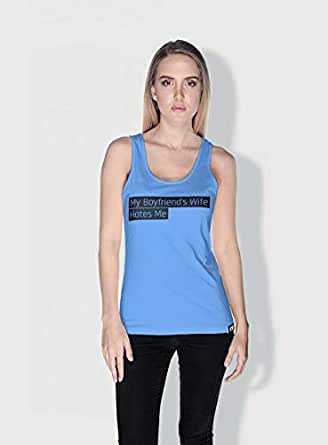 Creo My Boyfriends Wife Funny Tanks Tops For Women - S, Blue