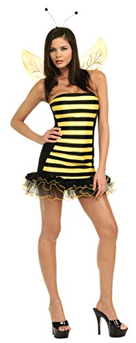 Secret Wishes  Busy Bee Costume, Black, -