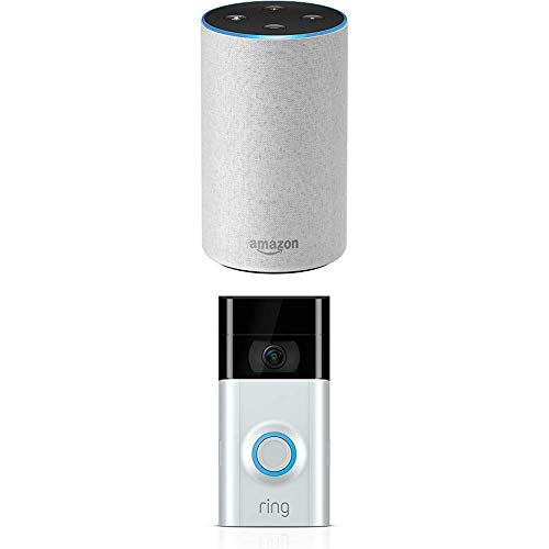 Echo (2nd Generation) – Sandstone Fabric with Ring Video Doorbell 2