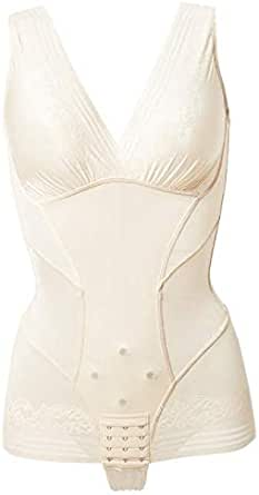 Women slim adjustable shapewear comfortable full body elastic bustier loseweight shaper corset,black size L