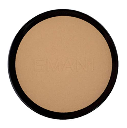 Emani Vegan Cosmetics Flawless Matte Pressed Powder Foundation - 100% Natural, Organic, Vegan and Gluten Free, Perfect for Combination to Oily Skin, Daily Face Foundation, Setting & Finishing Powder