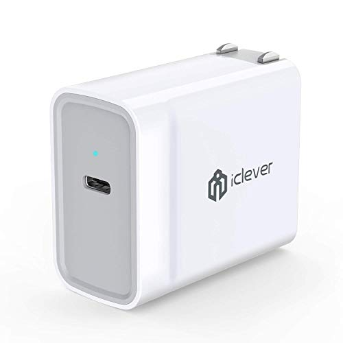 USB C Charger, iClever 30W Type C Wall Charger with Power Delivery for iPad Pro 2018, iPhone XS/XS Max/XR/X/8/8 Plus, MacBook 2015/2016, Nintendo Switch, Nexus 5X/6P, LG G5/G6, Pixel C/3/2/XL and more