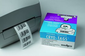 Cryo-Tags Thermal Transfer Labels 27 x 13 mm, 0.5 ml tubes, 2000/RL