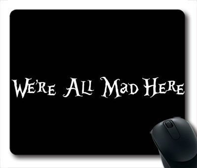alice-in-wonderland-were-all-mad-here-oblong-mouse-pad-rectangle-gaming-mousepad