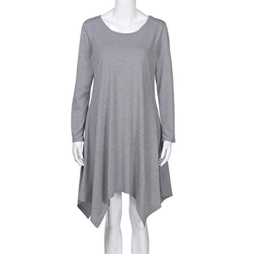 Femme Haut Automne Printemps Longues Chemisier Robe Sp Unicolore SSgwOxraq