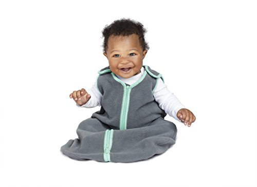Sleep nest fleece baby sleeping bag, Lake Green, Large