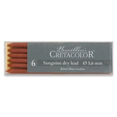 Traditional Lead - Cretacolor Artist Lead Sanguine Dry 6/Pack