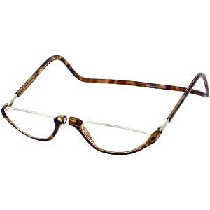 Clic Sonoma Single Vision Half Frame Designer Reading Glasses, Light Tortoise, +1.50