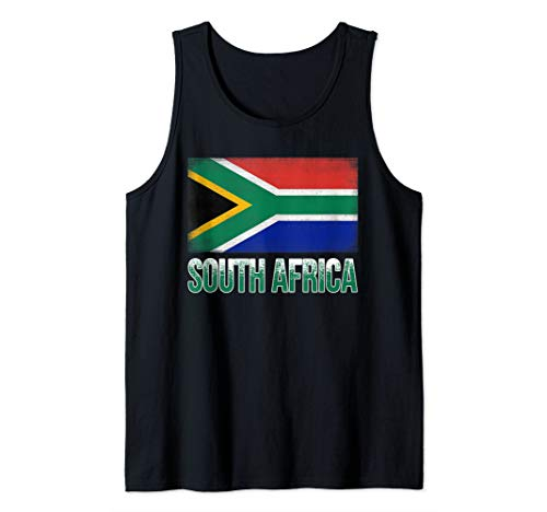 South Africa Flag T-Shirt, Funny South Africa National Tank Top (Was South Africa Ever A British Colony)