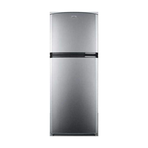 Summit FF1423SSLH 26″ Top Freezer Refrigerator with 12.89 cu. ft. Capacity Adjustable Glass Shelves Door Storage Crisper and Interior Light in Stainless Steel with Left