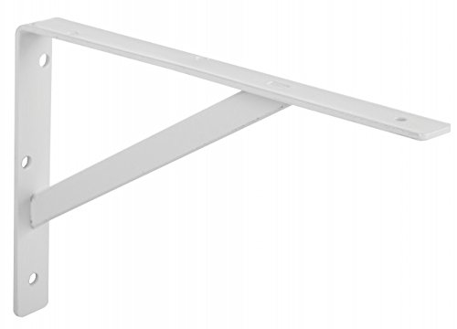 Knape & Vogt 208WH500 20'' White Heavy Duty Shelf Brackets