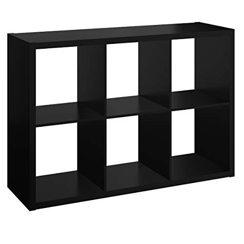 ClosetMaid 4582 Decorative Open Back 6-Cube Storage Organizer, Black (Black Unit Storage)