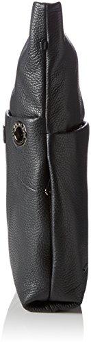 Mandarina Duck Mellow Leather Tracolla - Borse a spalla Donna, Schwarz (Nero), 5x33x32 cm (B x H T)