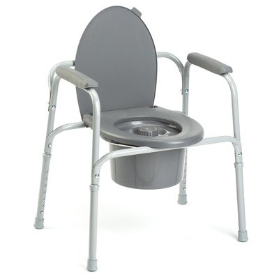Invacare 9650-4 All-In-One Aluminum Commode ()