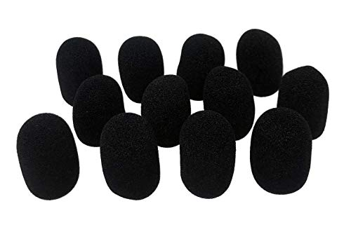 Tetra-Teknica XFFZDP-BLK Lapel & Headset Microphone Windscreen, Color Black, One Dozen Pack