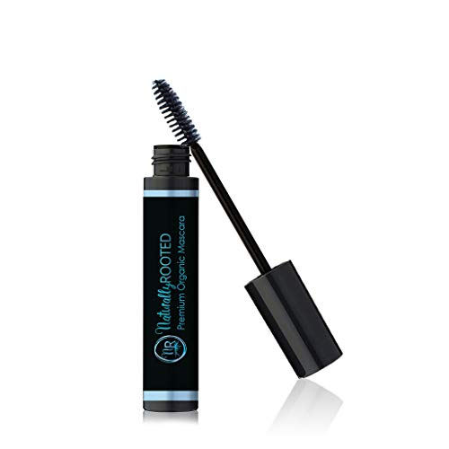 Premium Organic Mascara, Black- Natural - 85% Organic - Enriched with Chamomile & Sunflower Oil - Paraben & Gluten Free, Strengthens & Moisturizes - Great for Sensitive Eyes - Made in USA (Ecco Bella Black Mascara)