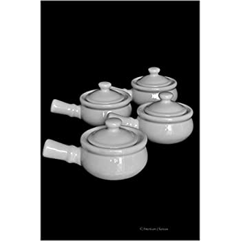 Amazon Com Set 4 Traditional White Porcelain French