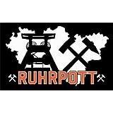 Ruhrpott schwarz Fahne Flagge Grösse 1,50 x 0,90m Motiv 2013