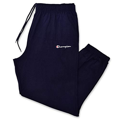 - Champion Mens Big and Tall Logo Lounge Workout Sweatpant Navy 2X