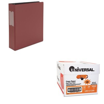 KITUNV21200UNV34417 - Value Kit - Universal Suede Finish Vinyl Round Ring Binder With Label Holder (UNV34417) and Universal Copy Paper (UNV21200)