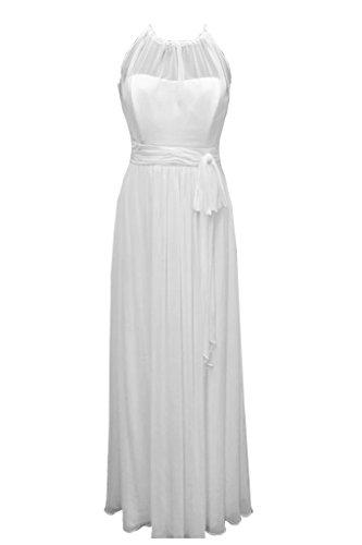 Missdressy - Vestido - trapecio - para mujer Bianco