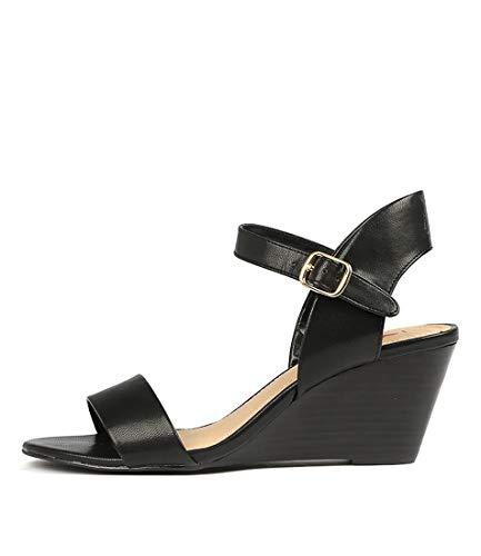 I LOVE BILLY Melli Womens Shoes Medium Heels Summer Wedges Black smooth