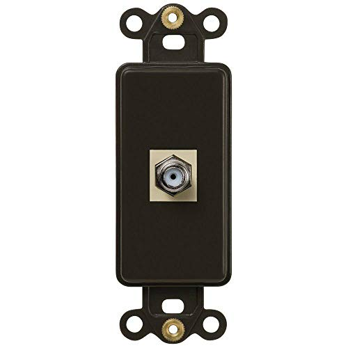 Oil Rubbed Bronze Wall Switch Plate Coaxial Single HP