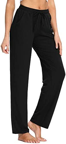 PACBREEZE Women's Yoga Pants Loose Comfy Pajama Pants Casual Pilates Running Workout Sweatpants with Pockets 1
