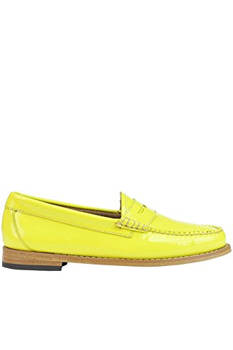 Weejuns Women's MCGLCAB03058E Yellow Patent Leather Loafers o6Zi7co