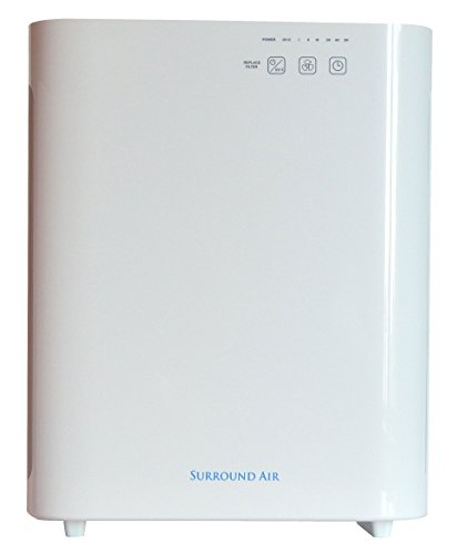 Surround Air MT-8400 5-in-1 Air Purifier with True HEPA, Germ-Killing UV Light and Carbon Filter