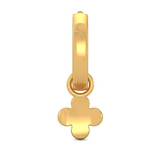 Or jaune 18K 0,06CT TW White-diamond (IJ | SI) Boucles d'oreilles créoles