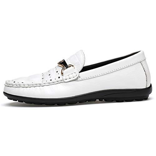 White Heel tamaño Crocodile Ofgcfbvxd Ligero amplios Hombres más EU Deslizamiento en Mocasines Skin Color Zapatos para Texure 43 Loafer Flat Conducción Hollow Sole Zapatos Blanco Wave Casuales 4xqAwxC