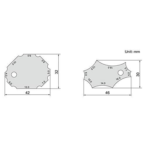 Measurement tools 2Pcs//Set Stainless Steel Welding Gauge Key Pocket Gage Weld Seam Test Ulnar Inspection Ruler Welding Tools Measuring Tool